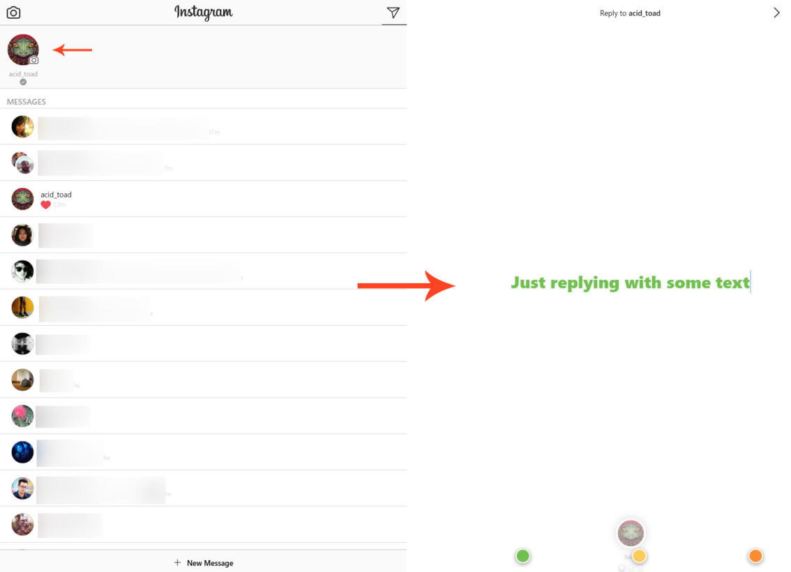 reply instagram direct