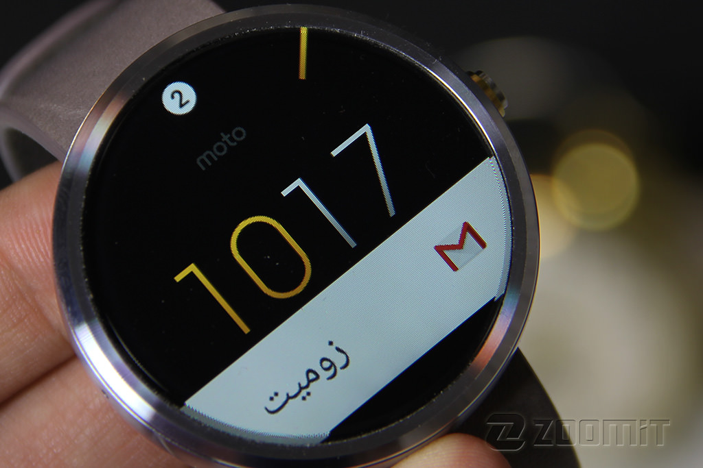 moto 360 display