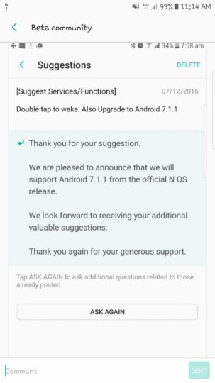 galaxy s7 android 7.1.1