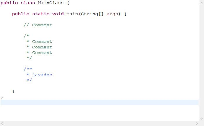 comment-in-java