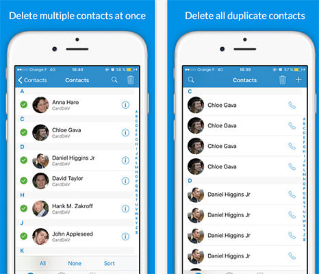 Delete Duplicates + Contacts