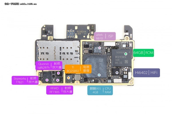 huawei p9 internal components