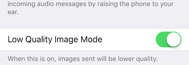 Send Low Quality Images in Messages