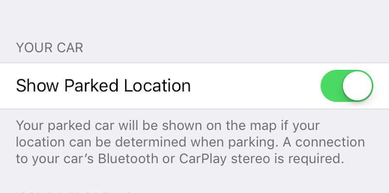 Apple Maps Automatically Remembers Where You Parked