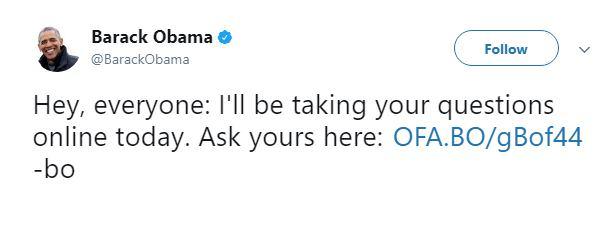 توییتر باراک اوباما / باراک اوباما انجمن ردیت