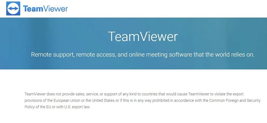 Team Viewer restriction iran