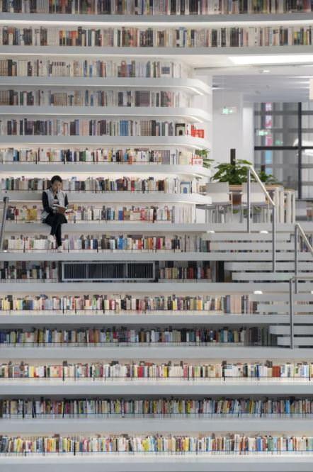 کتابخانه ی مدرن در چین
