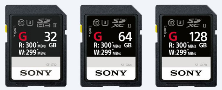 sony fast sd cards