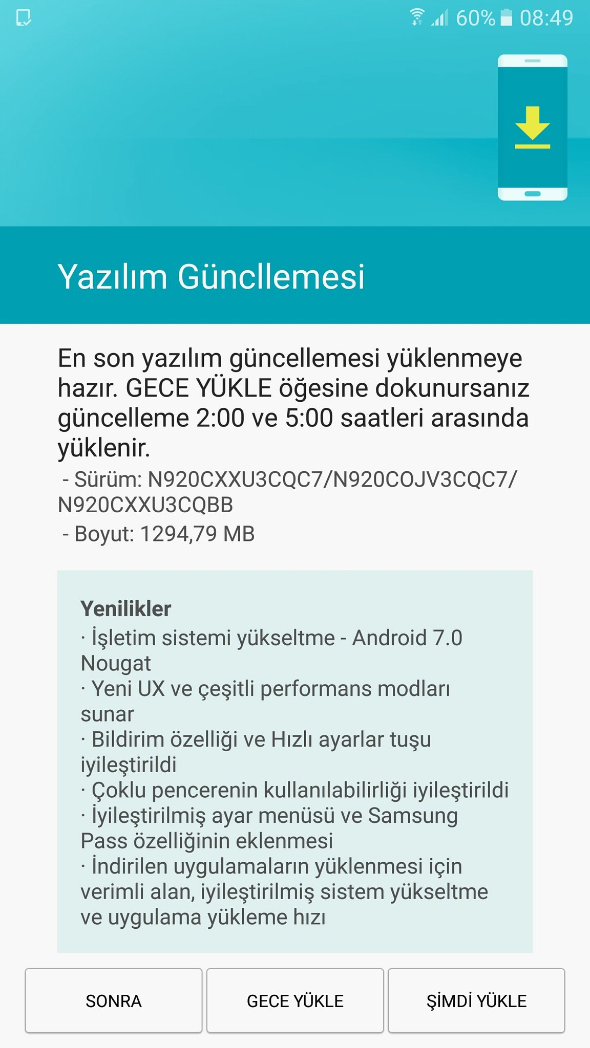 Android 7 galaxy note 5