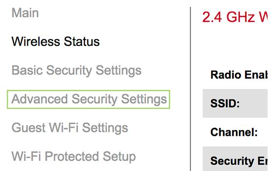 Choose Advanced Security Settings