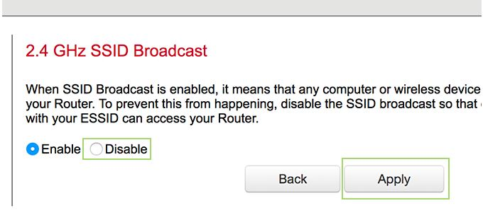 Click Disable, and then Apply.