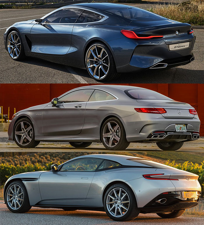 BMW 8 SERIES  mercedes S coupe Aston matrin db11