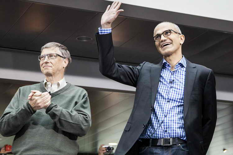 Satya Nadella & Bill Gates