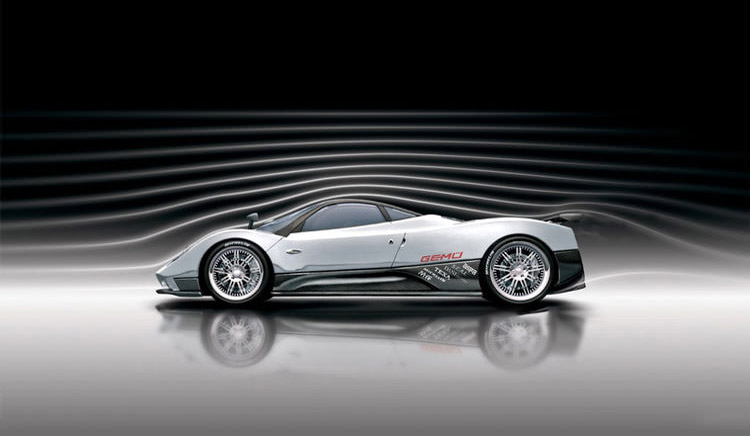 Pagani-Zonda-F-wind tunnel test