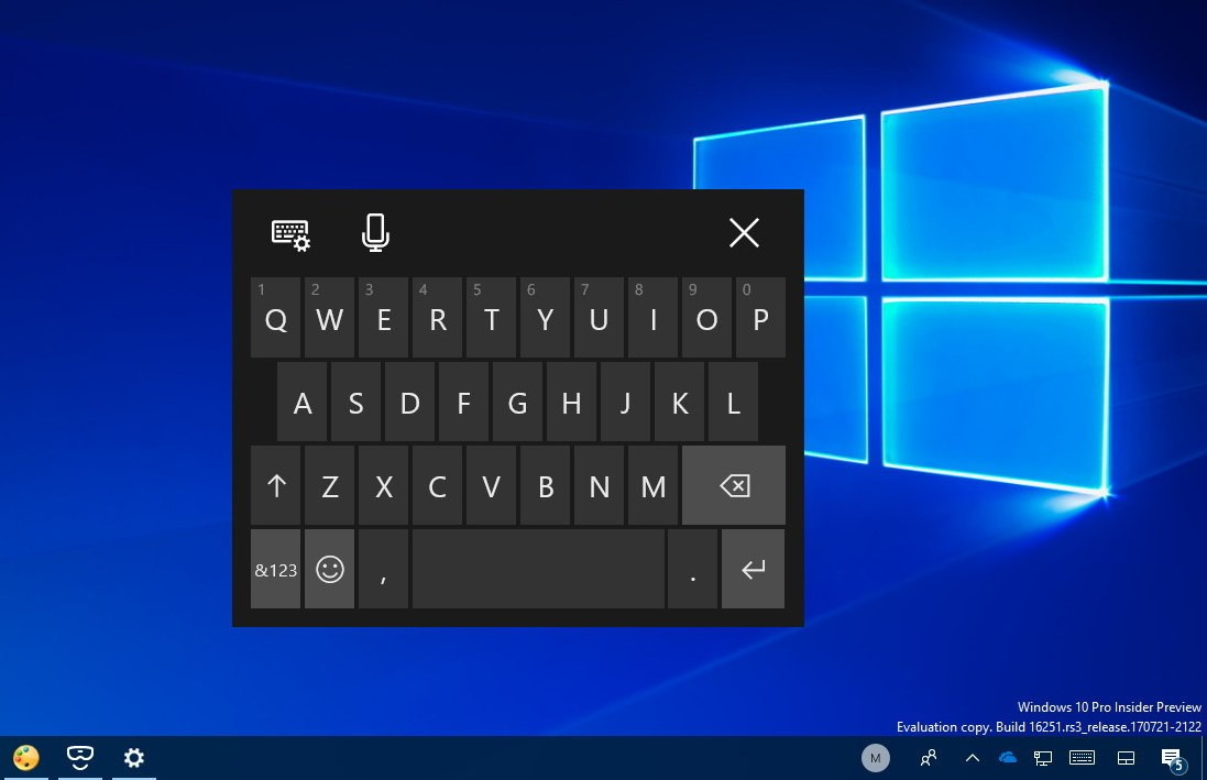 Onehanded Keyboard Windows 10 16251
