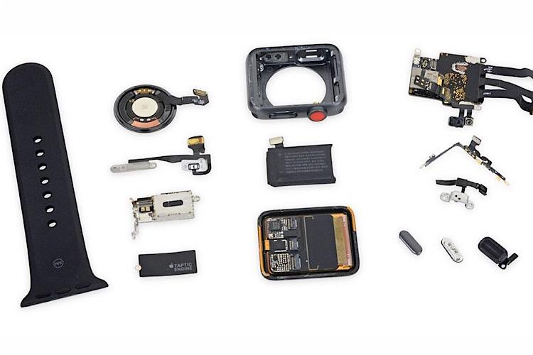اپل واچ 3 از کالبدشکافی ifixit امتیاز ۶ گرفت