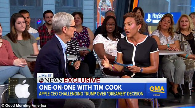 tim cook in GMA