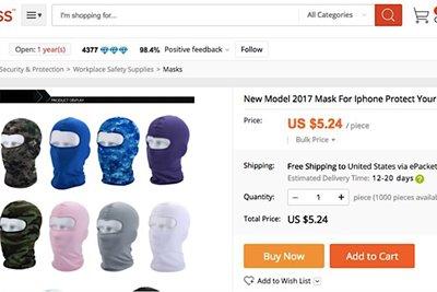 فروش ماسک برای محافظت از فیس آیدی آیفون 10