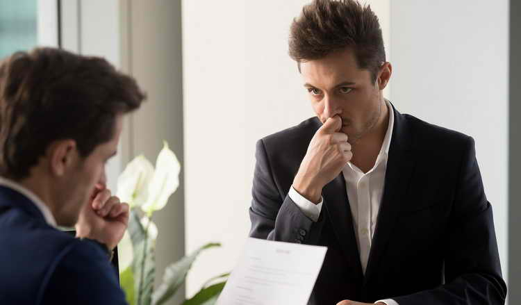 negative factors in an interview