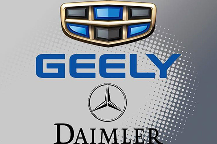 Daimler Geely ride-hailing China / دایملر جیلی اشتراک سواری چین
