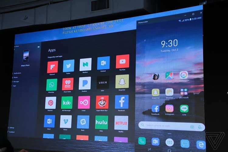 مایکروسافت قابلیت جدید برای دسترسی به اپلیکیشنهای تلفن اندرویدی از طریق ویندوز معرفی کرد