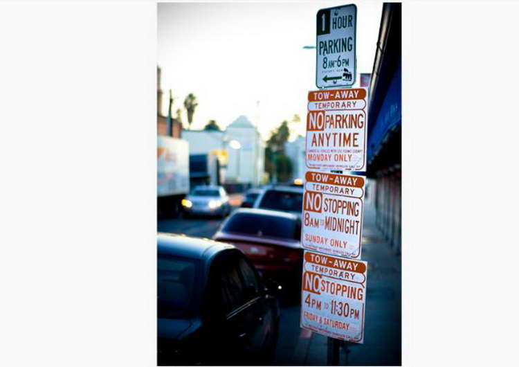 The Bad: Parking Signs in Los Angeles