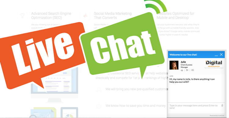 Use live website chat
