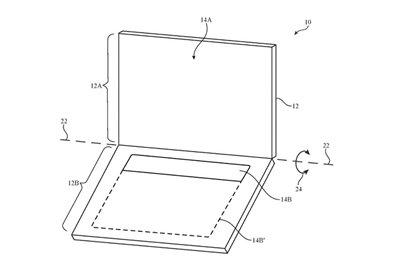 اپل پتنتی از یک دستگاه با نمایشگر دوگانه ثبت کرد