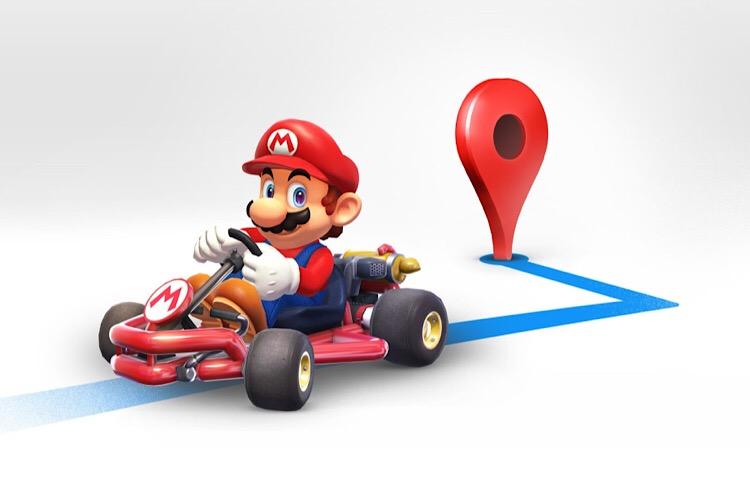 ماریو مسیر شما را در نقشه های گوگل نشان میدهد