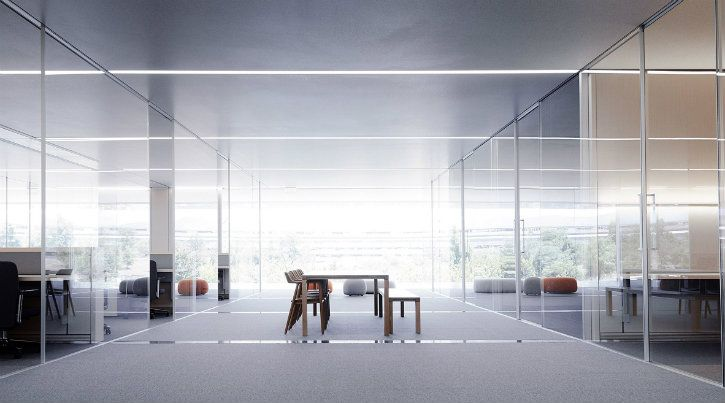 apple park glasses wall
