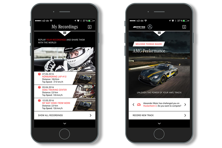 AMG Track Pace App