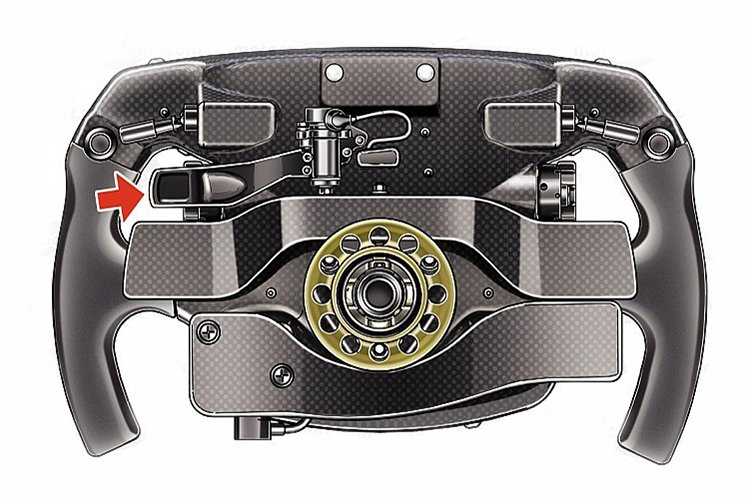 ferrari  f1 steering wheel   2018