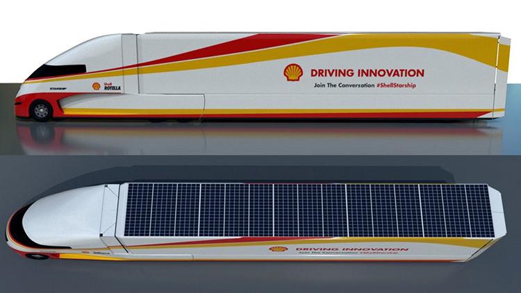 starship concept truck / کامیون مفهومی استارشیپ شل
