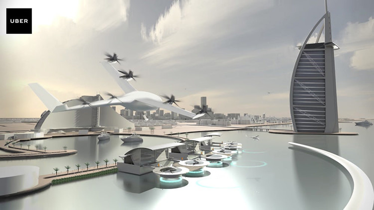 Uber flying taxi / تاکسی پرنده اوبر