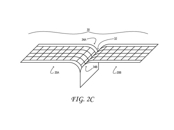 Microsoft foldable dispaly patent
