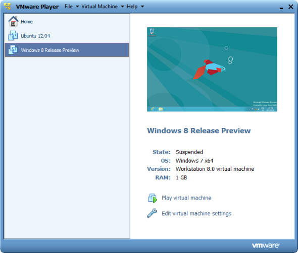 vmware player virtual machine