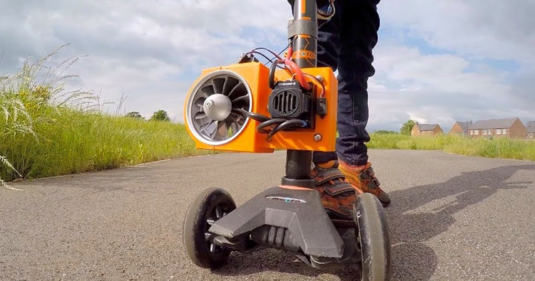 Colin Furze Jet scooter / اسکوتر برقی کالین فورز