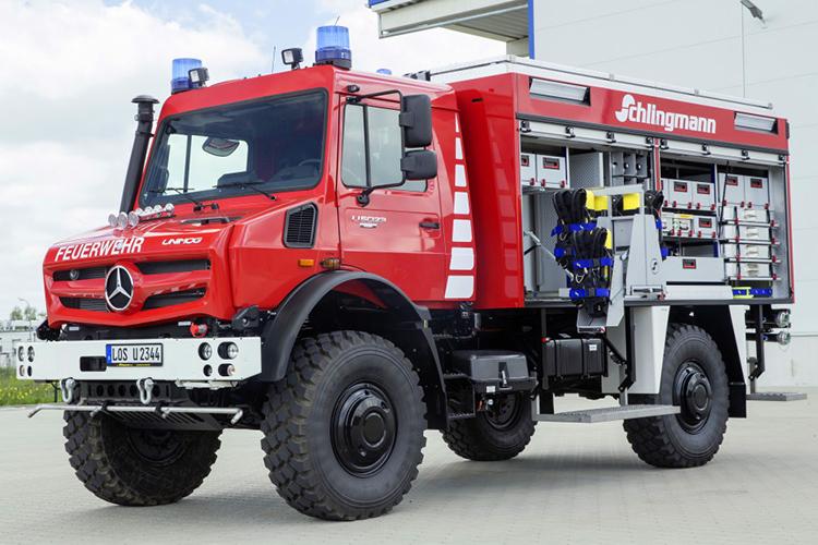نمایش دیدنی کامیون مرسدس بنز یونیماگ در حوادث و بحران