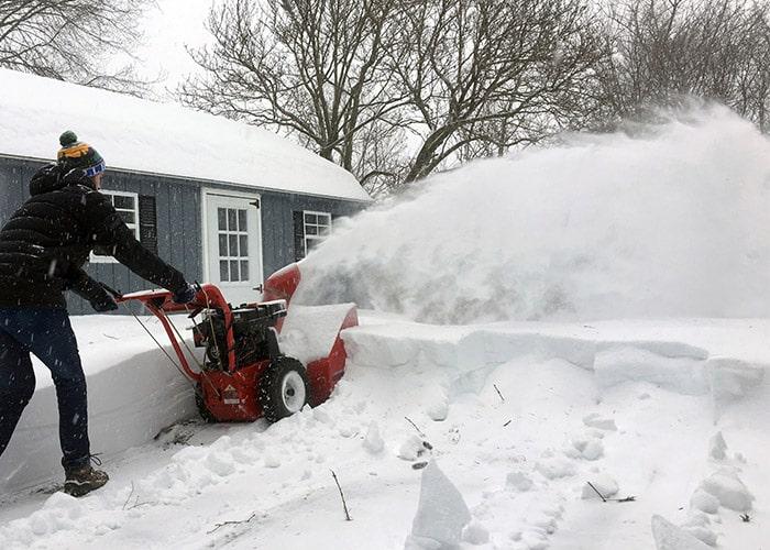 بارش برف سنگین در آمریکا