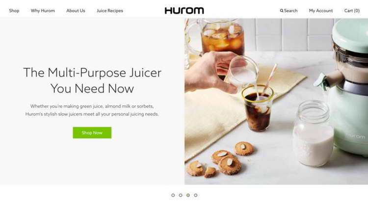 Hurom navigation and UI elements
