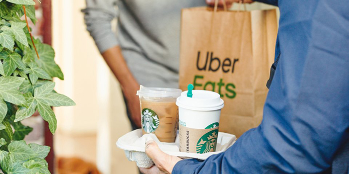 uber eats starbucks