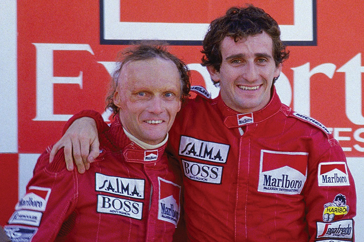 Niki Lauda and Alain Prost