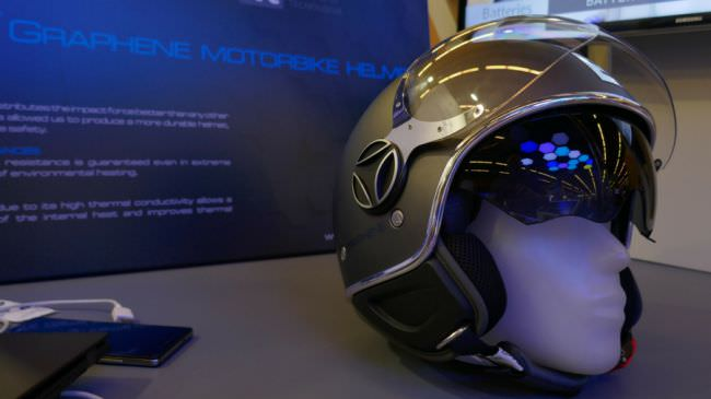 Graphene motorcycle helmet