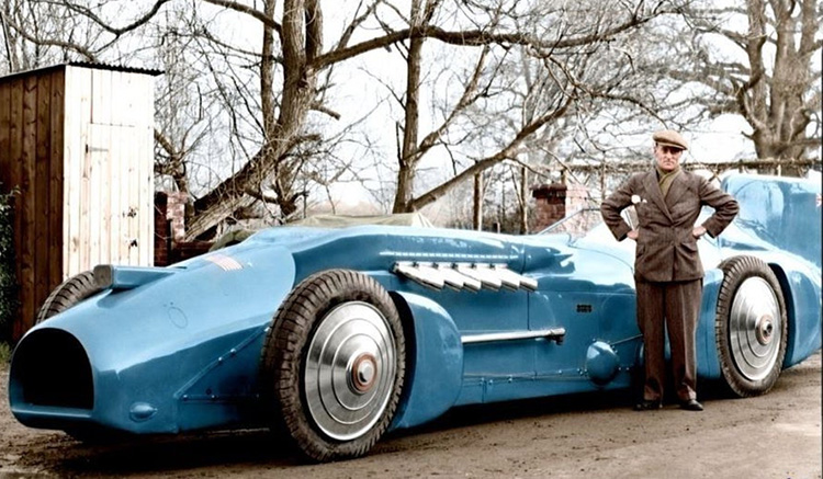 Sir Malcolm Campbell  Rolls Royce Blue Bird