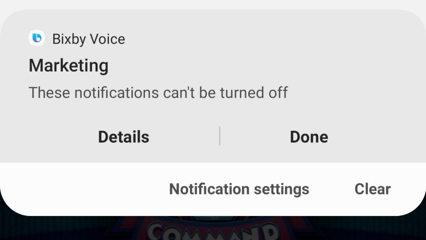 Samsung Notification