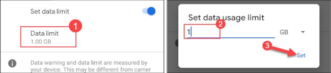 تنظیم مقدار برای قطع دسترسی برنامه از اینترنت