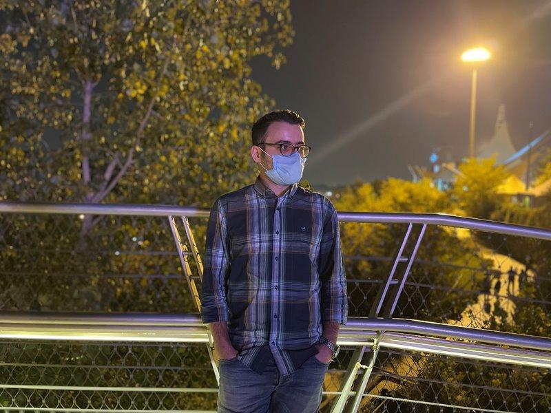 نمونه عکس پرتره 1x آیفون ۱۲ در تاریکی