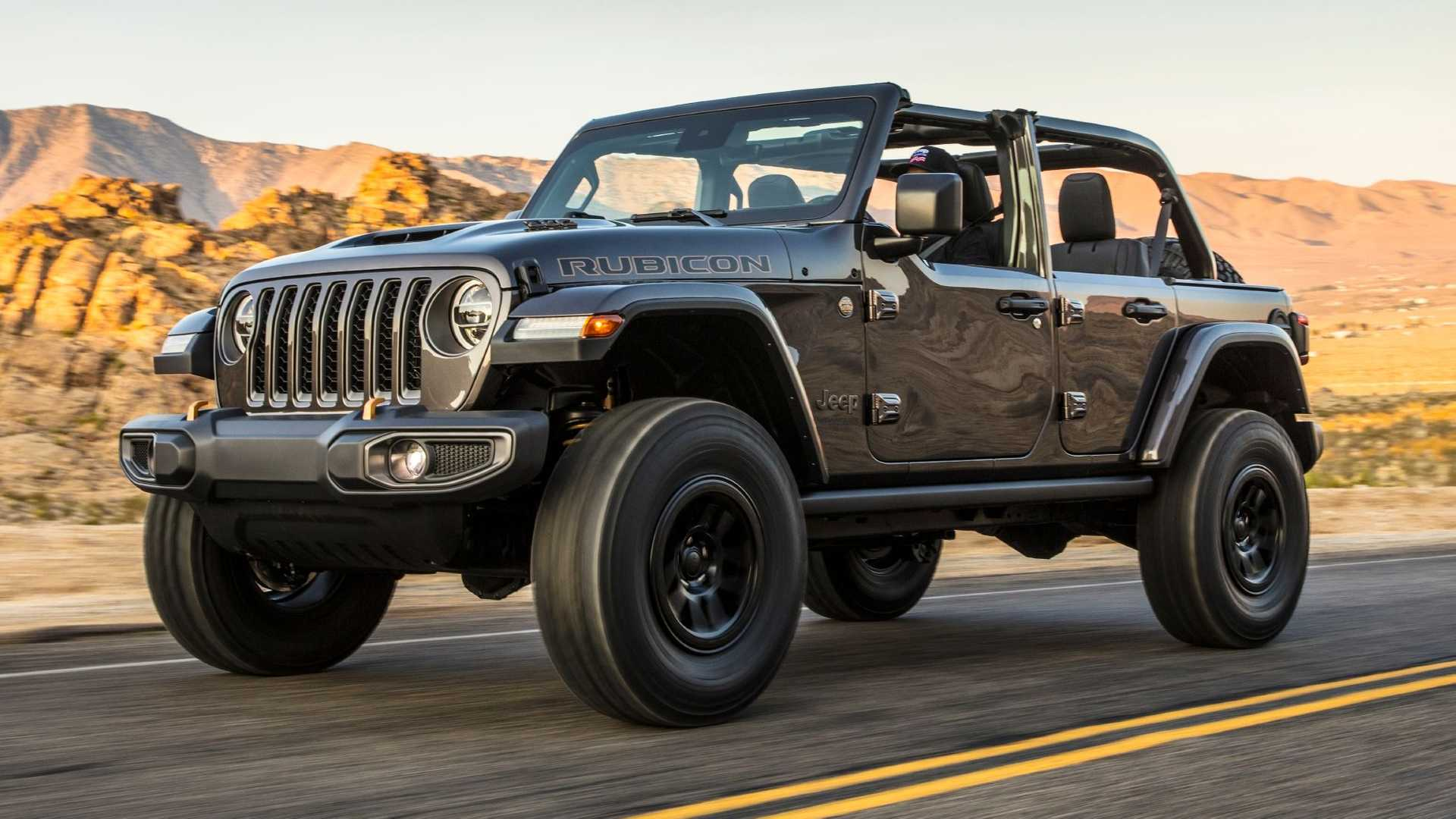 Jeep Wrangler Rubicon 392 on the road