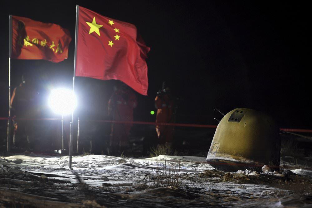 چین نمونههای خاک ماه را به زمین آورد