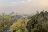 نمونه عکس دوربین اصلی آیفون ۱۲ پرو مکس در طول روز - نمای بزرگراه مدرس تهران از پل طبیعت